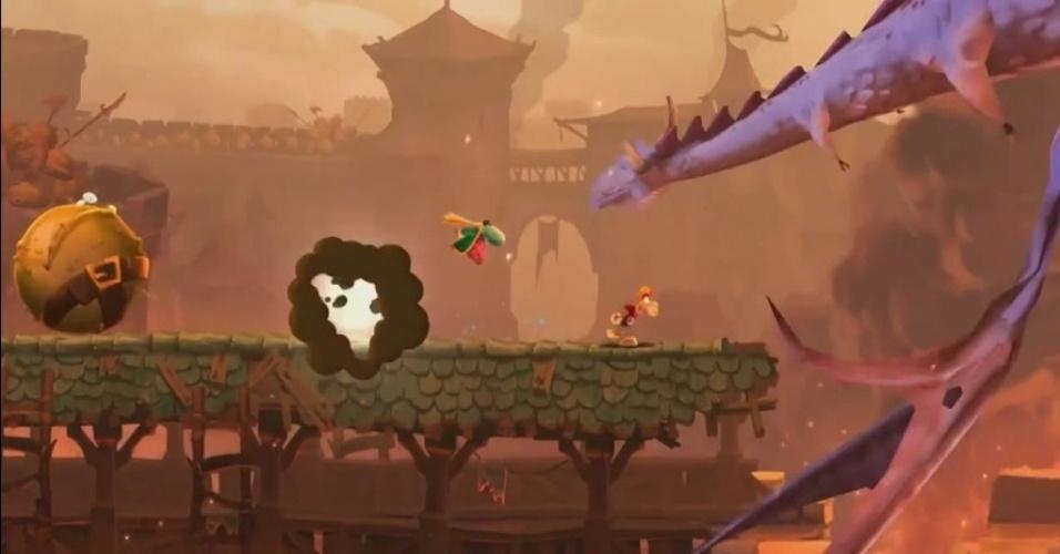 """Para Wii U, """"Rayman Legends"""" vai usar o controle estilo tablet para ativar bonecos"""