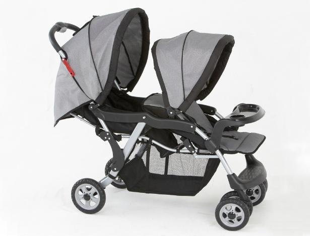 carrinho de bebê, Galzerano,Twin Cinza