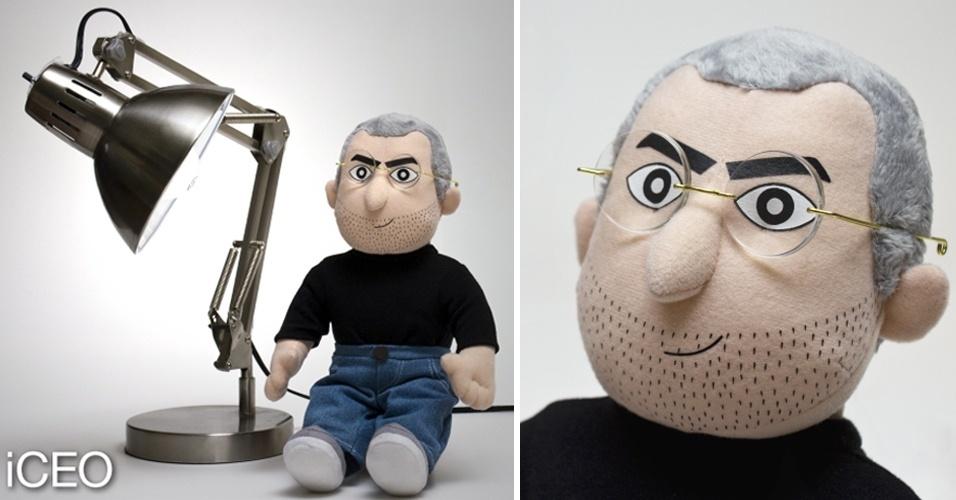 14.mar.2012 - Sim, é um boneco inspirado em quem você está pensando: Steve Jobs, cofundador da Apple, que morreu em 5 de outubro do ano passado após uma longa batalha contra o câncer. Chamado de iCEO, o boneco tem cerca de 38 cm de altura, custa US$ 60 e está disponível para pré-encomenda no site da fabricante, a Throwboy. A empresa diz que 10% do dinheiro das vendas irão para a Sociedade Americana do Câncer. A dúvida é se o brinquedo vai mesmo chegar ao mercado: a In Icons tentou lançar um boneco super-realista de Steve Jobs , mas desistiu após pressão da Apple