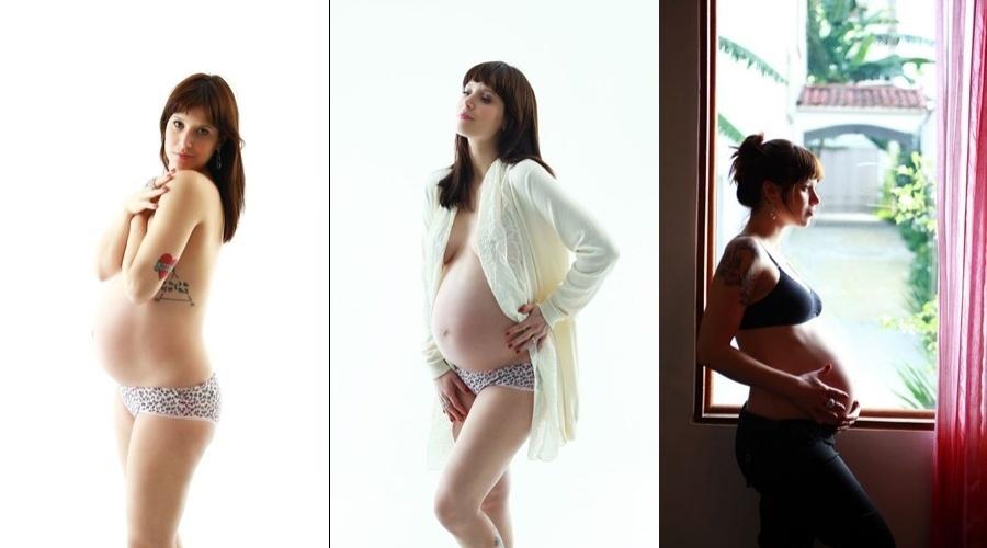 Na reta final da gravidez, Mel Lisboa participou de uma sessão de fotos para o Projeto Família (30/5/12)