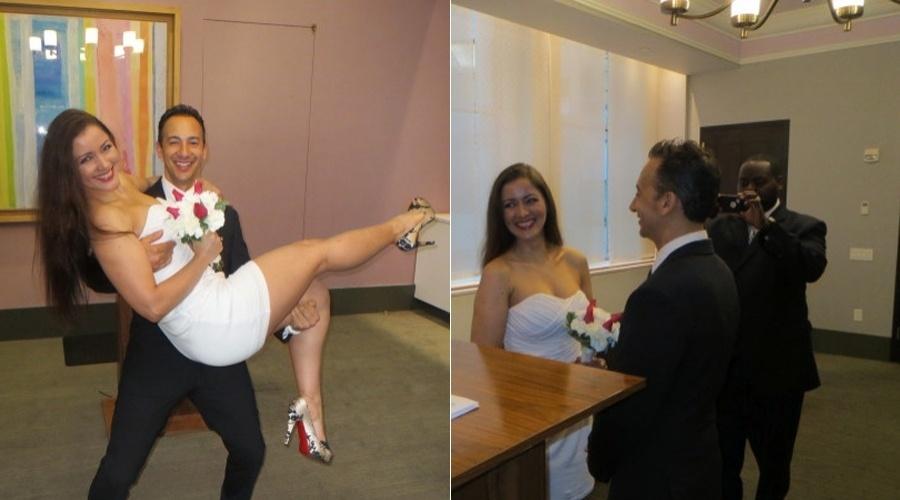 Nana Gouvêa divulgou imagem do seu casamento nos Estados Unidos (30/5/12)
