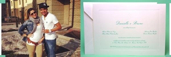 Convite do casamento de Dentinho e Dani Souza é verde, cor do rival do Palmeiras