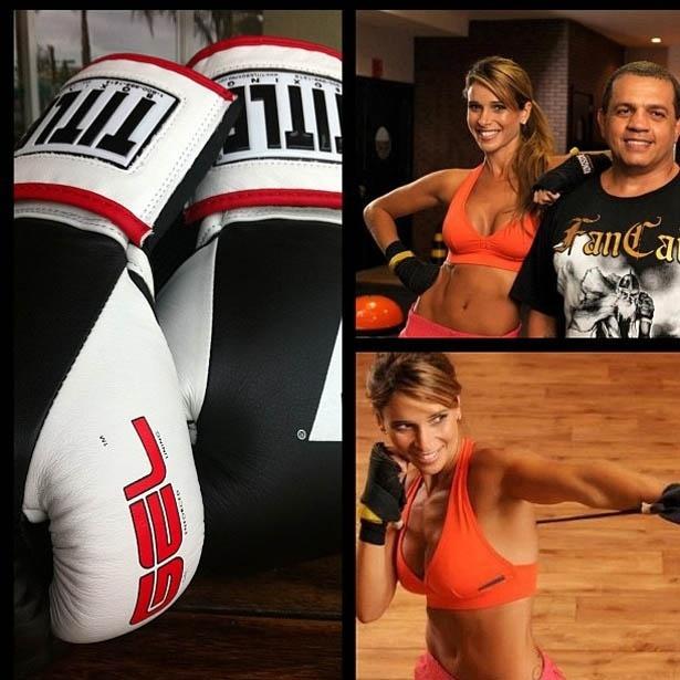Dany Bananinha mostra foto de seu treino de box (31/5/2012)