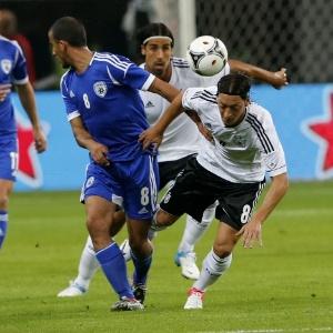 O meia Özil (nº 8) é um dos destaques da seleção da Alemanha na Eurocopa