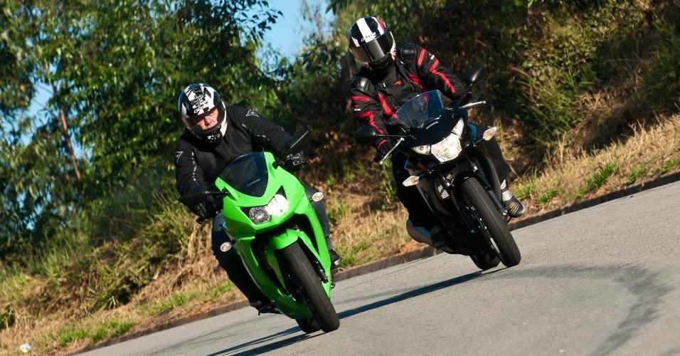 A Ninja tem desempenho melhor na estrada e a Honda consegue ser mais ágil na cidade