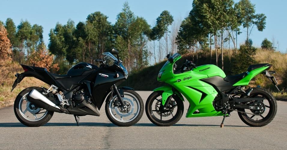 """Com visual moderno, a Ninjinha 250R leva destaque por utilizar o tradicional """"verde Kawasaki"""""""