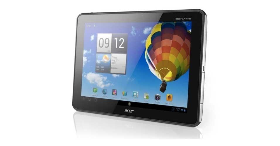 22.mar.2012 - O novo tablet da Acer, o Iconia Tab A510, passa a ser vendido nos EUA por US$ 499, preço idêntico ao do novo iPad, da Apple. O ultraportátil da Acer roda a versão mais atual do sistema Android (Ice Cream Sandwich), vem com processador quad-core Tegra 3 e bateria de longa duração (segundo a fabricante, suficiente para 13 horas de reprodução de vídeos). Além disso, vem com duas câmeras (de 1 e 5 megapixels) e tela de 10,1 polegadas com resolução de 1280x800 pixels