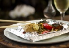 Papillote de Frango Orgânico com Shitake Tomilho e Manteiga