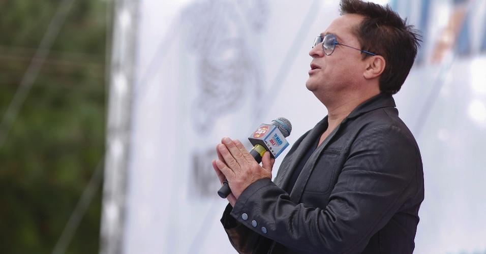 Cantor Leonardo se apresenta no show da Força Sindical do Dia do Trabalho (1/5/12)