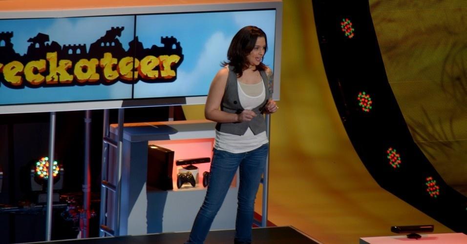 Alex Ruiz foi a única mulher na conferência da Microsoft, e apresentou um game casual chamado