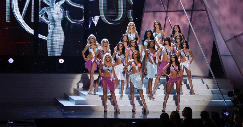 Candidatas competem no concurso Miss EUA em Las Vegas