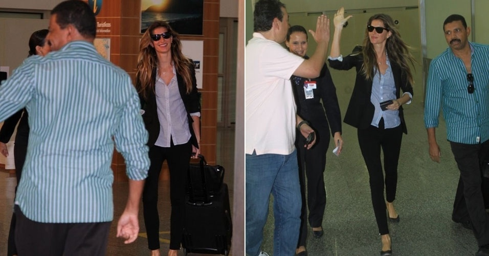 Gisele B&#252;ndchen desembarca no Aeroporto Internacional Tom Jobim, no Rio de janeiro (4/6/12)