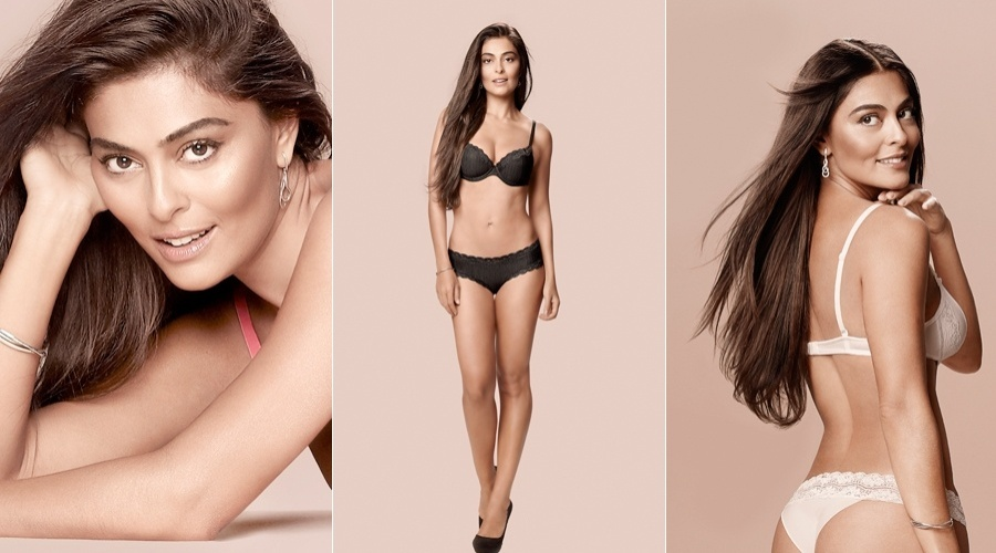 Juliana Paes posou para a nova campanha da marca de lingerie 