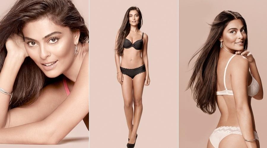 Juliana Paes posou para a nova campanha da marca de lingerie