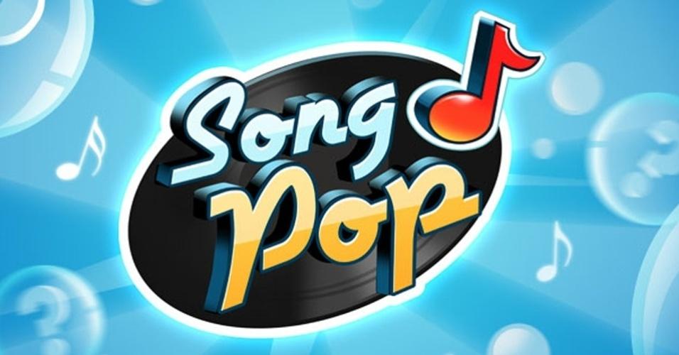 Logotipo do aplicativo Song Pop para Facebook, smartphones Android e dispositivos iOS