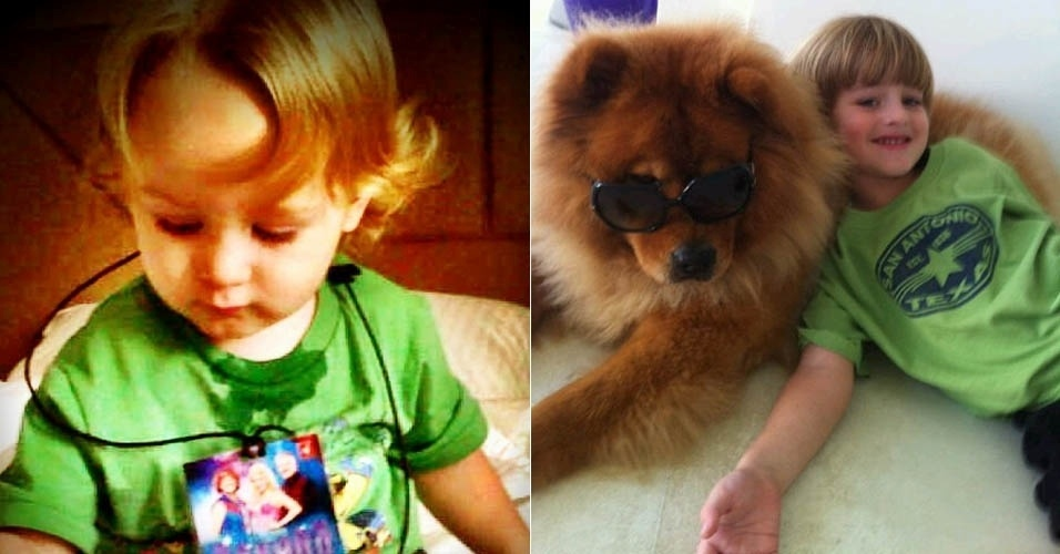 No Twitter, Danielle Winits divulga foto dos filhos Noah e Guy (4/6/2012)