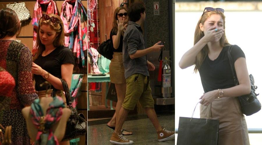 Sophie Charlotte passeou em um shopping da zona oeste do Rio (4/6/12)