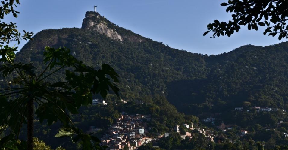 Corcovado visto desde Santa Teresa, no Rio de Janeiro