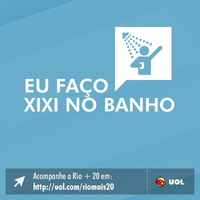 Eu fa&#231;o xixi no banho
