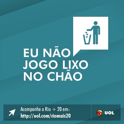 Eu n&#227;o jogo lixo no ch&#227;o