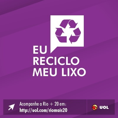 Eu reciclo meu lixo