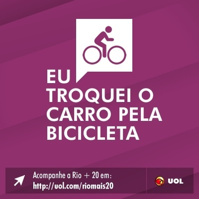 Eu troquei o carro pela bicicleta