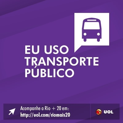 Eu uso transporte p&#250;blico