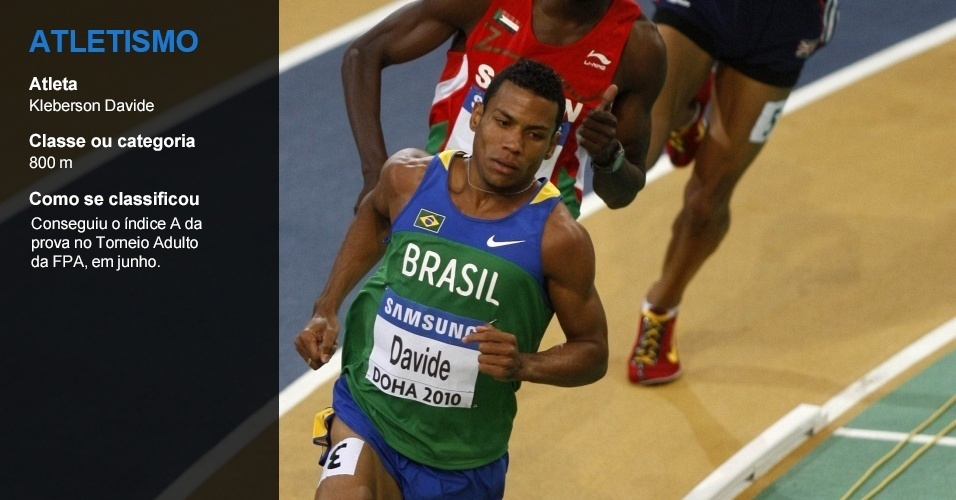 Kleberson Davide, atletismo