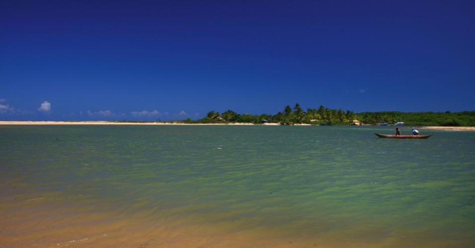Vista da praia de Corumbau, em Cumuruxatiba, na Bahia