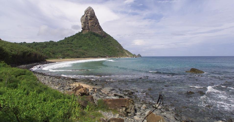 Praia da Conceição, vista a partir da Vila dos Remédios, em Fernando de Noronha, em Pernambuco