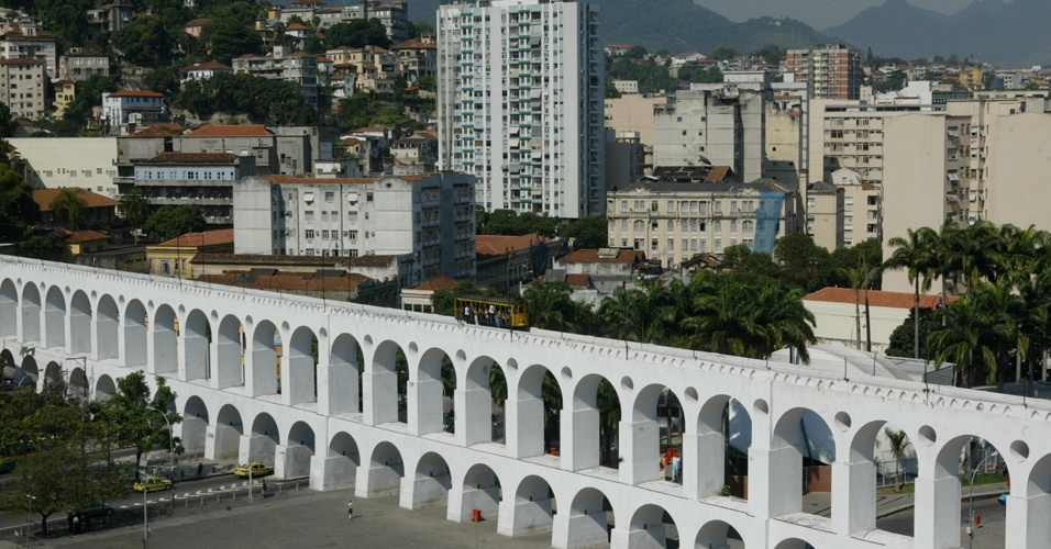 Vista dos Arcos da Lapa no Rio de Janeiro