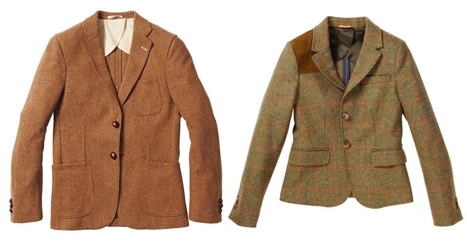 Blazeres marrons masculino e feminino; R$ 1.389 e R$ 1.080, respectivamente, na Gant (Tel.: 11 3083-3574)