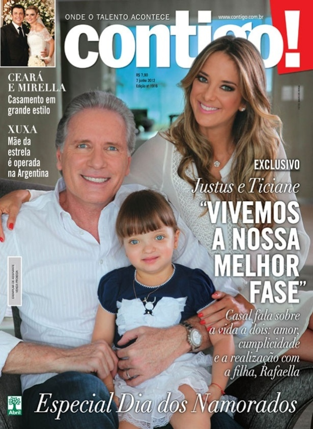 Capa da &#34;Contigo!&#34; mostra Rafaella, filha de Justus e Ticiane, pela primeira vez ap&#243;s cirurgia na face &#40;6/6/12&#41;