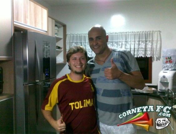 Corneta FC: Com camisa do Tolima, palmeirense tieta Marcos e corneta corintianos