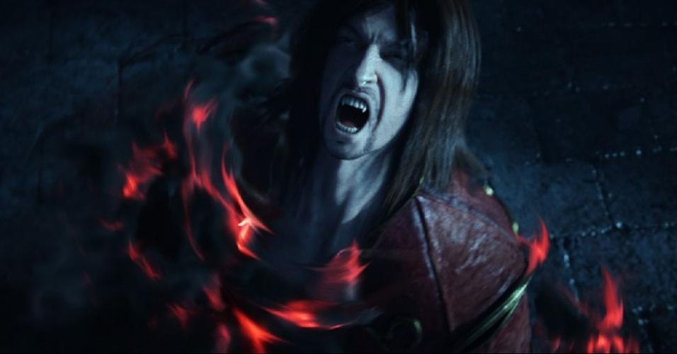 """Gabriel Belmont surge como vampiro em """"Castlevania: Lords of Shadows 2"""""""