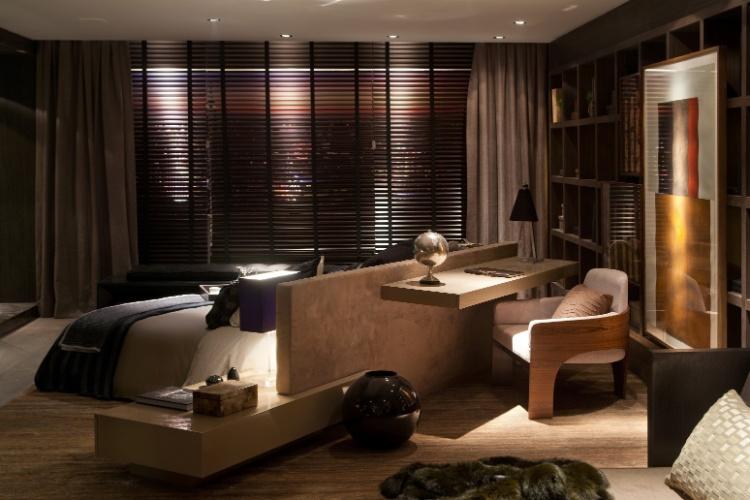 Projeto Casa Hotel: Duplex, assinado por Carlos Rossi, para a edição paulistana da Casa Cor em 2012