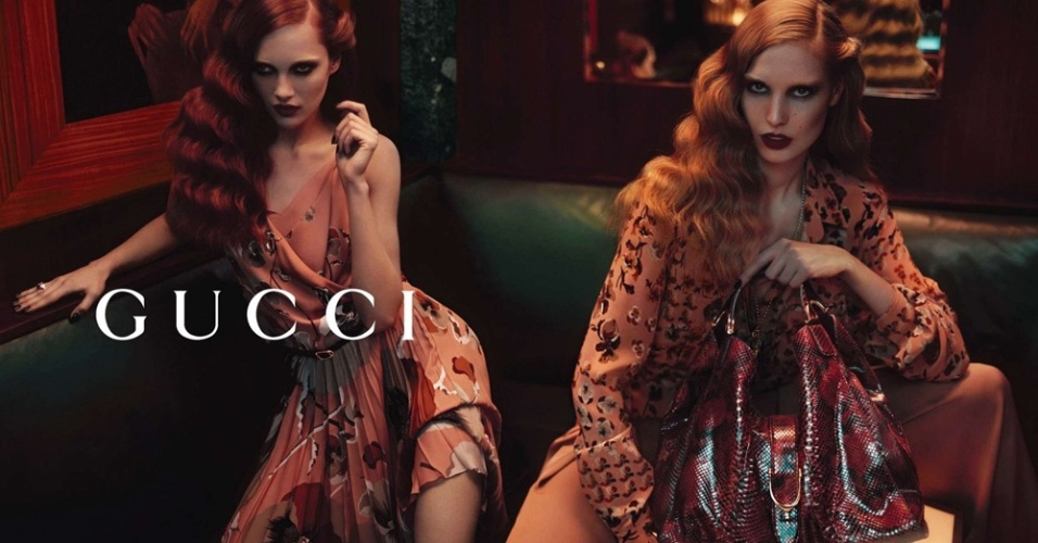 Campanha da Gucci com prévia do Inverno 2012 da marca