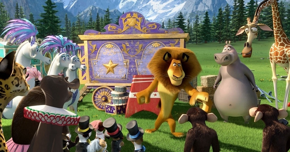Cena da anima&#231;&#227;o &#34;Madagascar 3: Os Procurados&#34;
