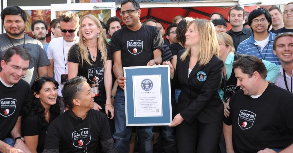 Empresa de tecnologia Qualcomm entra para o Livro dos Recordes com o título de