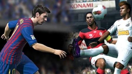 """Messi e Neymar ilustram as capas de """"FIFA 13"""" e """"PES 2013"""", respectivamente"""