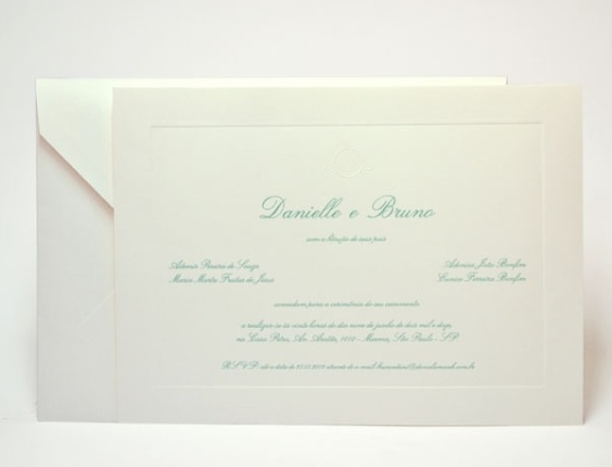 Imagem do convite de casamento de Dani Souza e Dentinho (7/6/12)