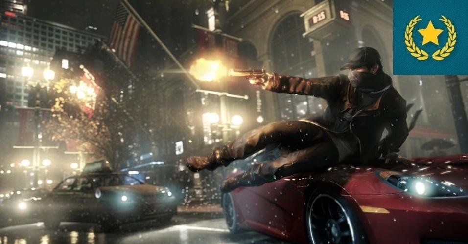 """JOGO DA FEIRA - VENCEDOR: Em uma E3 com poucas novidades e muito baseada em sequências de franquias consagradas, """"Watch Dogs"""" veio do nada e surpreendeu com gráficos belíssimos e a promessa de fornecer um mundo aberto que pode ser hackeado pelo jogador."""