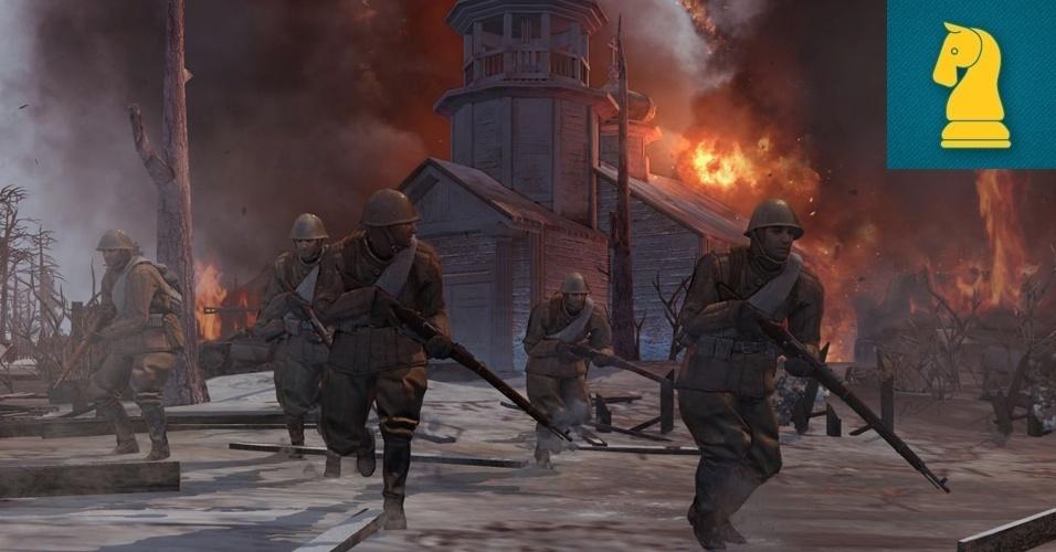 """ESTRATÉGIA - MENÇÃO HONROSA: Em """"Company of Heroes 2"""", os mestres da estratégia em tempo real da Relic retornam a uma de suas mais populares franquias, agora com gráficos melhorados ambientados na Segunda Guerra Mundial."""