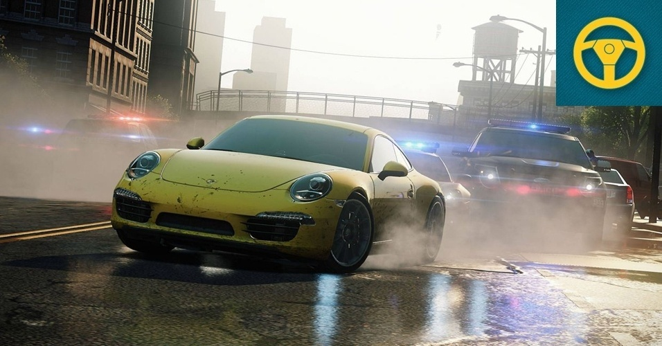 """CORRIDA - VENCEDOR: As perseguições policiais estão de volta à popular série de corrida. """"Need for Speed: Most Wanted"""" se passa em uma cidade aberta para a exploração e repleta de atalhos para serem descobertos e saltos cinematográficos em alta velocidade."""