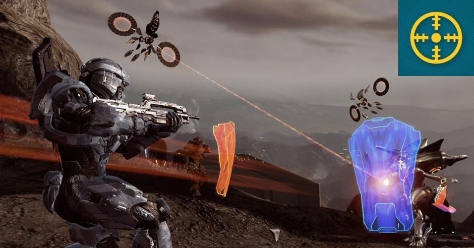 """SHOOTER - MENÇÃO HONROSA: O destino de Master Chief finalmente é revelado quatro anos após o lançamento de """"Halo 3"""", conforme ele enfrenta uma nova ameaça alienígena. """"Halo 4"""" traz belos gráficos e aprimoramento da jogabilidade consagrada da série."""