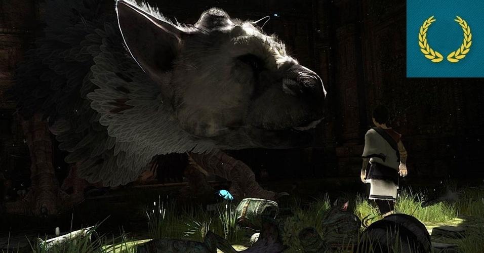 """AUSÊNCIA - MENÇÃO HONROSA: """"Last Guardian"""", o game sobre a amizade de um garoto com uma criatura alada iniciado pelo criador do """"ICO"""" e """"Shadow of the Colossus"""" Fumito Ueda parece mais órfão do que nunca devido ao silêncio da Sony durante sua conferência."""