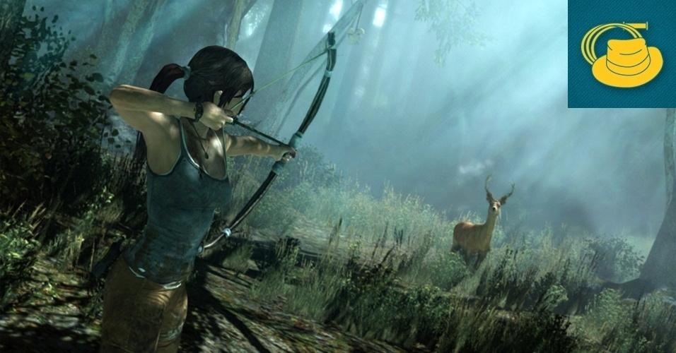 """AÇÃO E AVENTURA - MENÇÃO HONROSA: """"Tomb Raider"""" traz um recomeço com uma nova direção para a série. Os desenvolvedores deixaram de lado os dotes sensuais de Lara Croft para colocar ela para sofrer com requintes de crueldade conforme luta pela sobrevivência."""