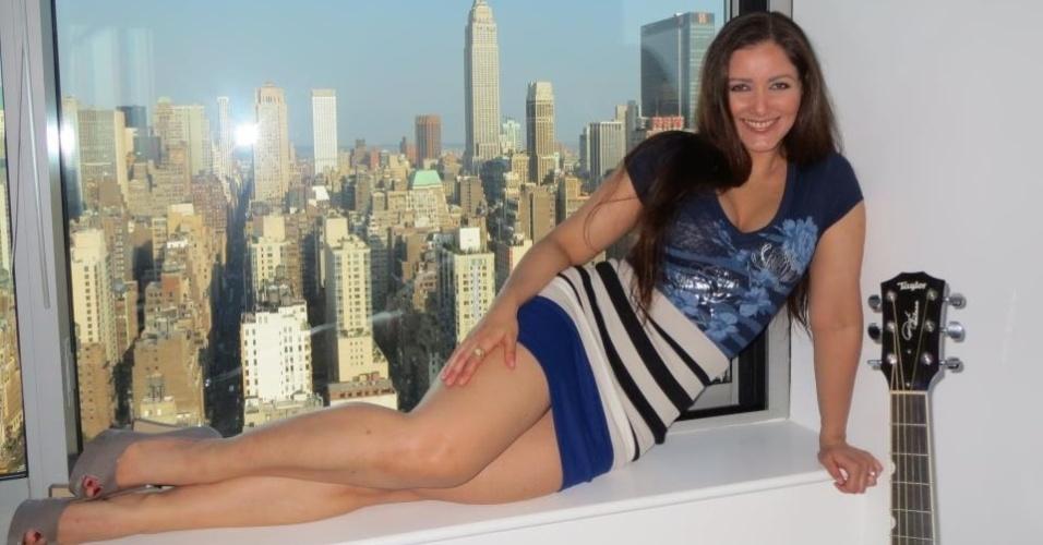 Nana Gouvêa mostra no Facebook seu apartamento em Nova York (9/6/2012)