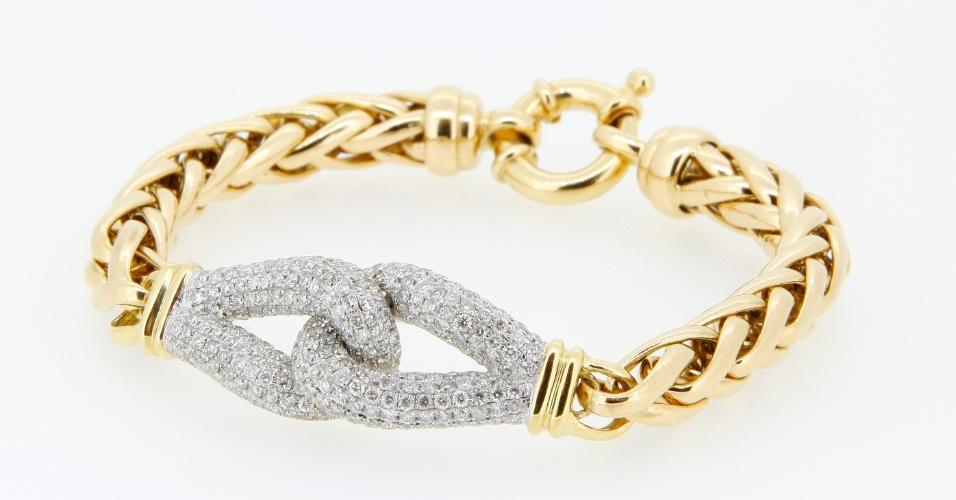 Pulseira de ouro amarelo com diamantes de Lydia Dana (www.lydiadana.com.br)