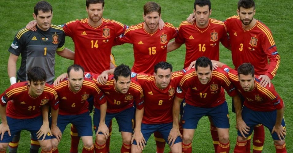 A Fúria Espanhola posa para foto antes da partida contra a Itália